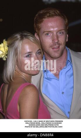 Aug. 30, 2001 - K22741EG:  H.B.O. BAND OF BROTHERS PREMIERE.HOLLYWOOD BOWL, HOLLYWOOD CA 08/29/2001.DAMIAN LEWIS - Stock Photo