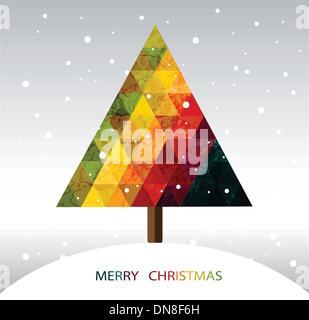 Colorful geometric Christmas tree - Stock Photo