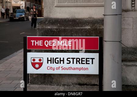 high street old town southampton hampshire england - Stock Photo