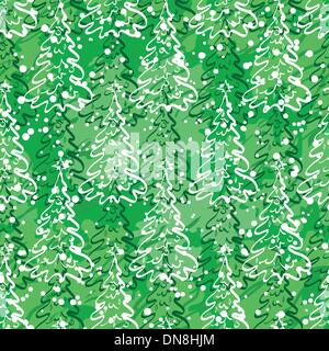 Seamless pattern with Christmas trees - Stock Photo