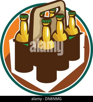 Beer Bottle 6 Pack Retro - Stock Photo