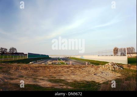 orbital road under construction in Poznan, Poland, may 2013 - Stock Photo