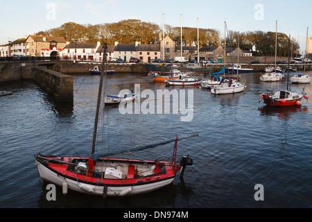 Castletown harbour, Isle of Man - Stock Photo