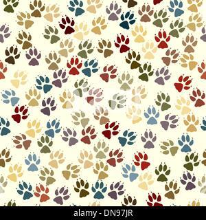 Paw seamless tile - Stock Photo