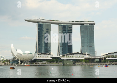 Marina Bay Sands Hotel. Singapore. - Stock Photo