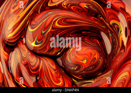 Abstract red smeared paint art - Stock Photo