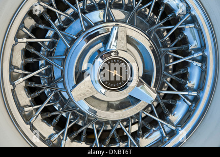 Wheel, 1956 Ford Thunderbird, Santa Fe, New Mexico USA - Stock Photo