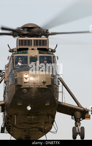 Sea King Helicopter HC4 at Deptford Down - Stock Photo