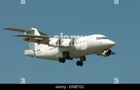 QinetiQ Avro RJ 2 at Deptford Down, Wiltshire - Stock Photo