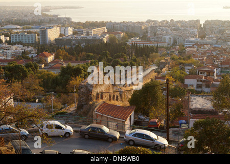 View from upper town. Thessaloniki, Greece - Stock Photo