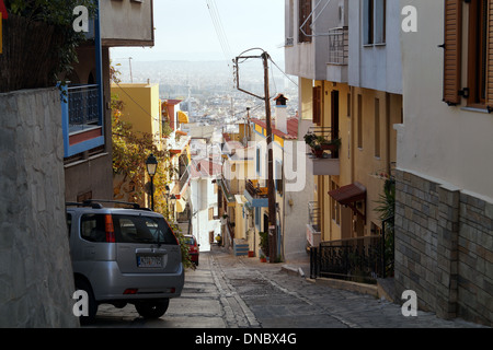 View of the Old Town at Thessaloniki, Greece Stock Photo ...