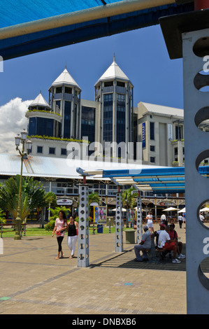 The modern caudan waterfront port louis mauritius stock - Restaurants in port louis mauritius ...