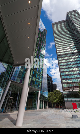 Euston Tower in Central London looking Upwards - Stock Photo