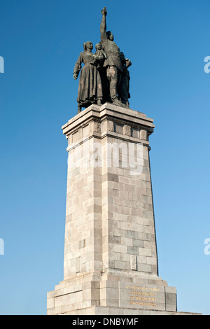 Monument to the Soviet Army in the central park in Sofia, the capital of Bulgaria. Stock Photo