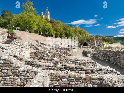 The Tsarevets fortress in Veliko Tarnovo in Bulgaria. - Stock Photo