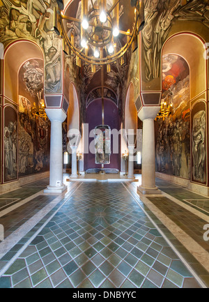 Interior of the Patriarchal Cathedral of the Holy Ascension of God in the Tsarevets fortress in Veliko Tarnovo in - Stock Photo