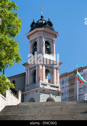 The Virgin Mary Cathedral (aka the Assumption cathedral) in the old town in Plovdiv, the second largest city in - Stock Photo