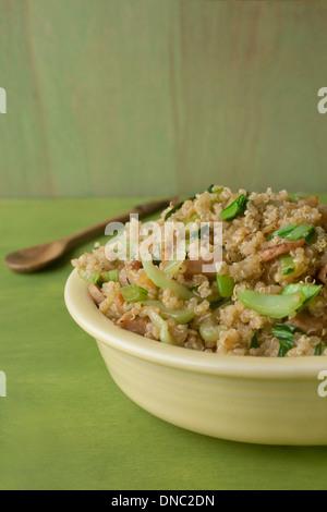 Quinoa salad with bok choy - Stock Photo