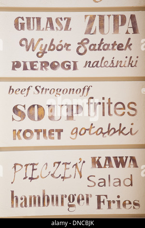 Kuchnia Domowa Restaurant Kazimierz Krakow Poland Stock
