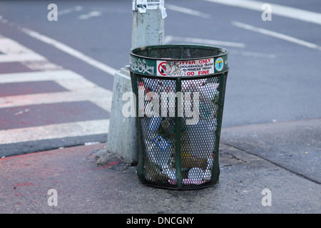 NYC Trash can - Stock Photo