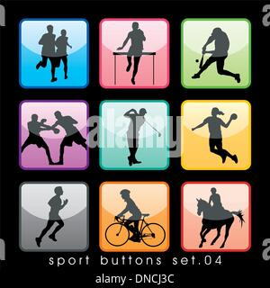 Sport Silhouettes Set - Stock Photo