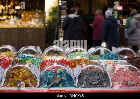 Candy for sale on a market stall - Stock Photo