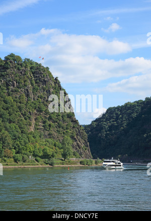 Germany, Upper Middle Rhine Valley, Loreley, UNSCO World Heritage - Stock Photo