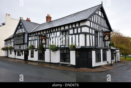 The Queens Head Inn, St. James Street, Monmouth, Wales - Stock Photo