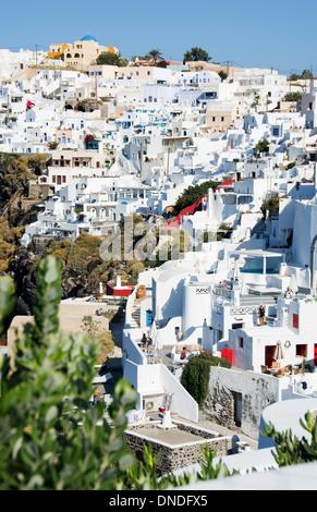 SANTORINI (THIRA), CYCLADES, GREECE. The picturesque village of Imerovighli near Fira. 2013. - Stock Photo