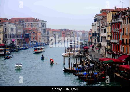 Venice. 24th Dec, 2013. Photo taken on December 21, 2013 shows the Venice's Grand canal in Venice, Italy. Venice - Stock Photo