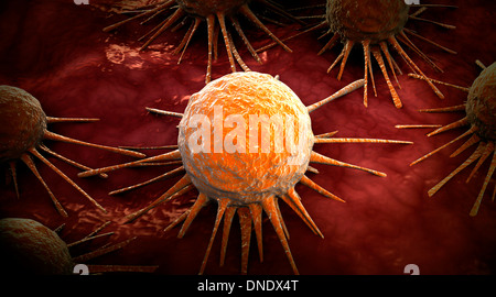Conceptual image of cancer virus. - Stock Photo