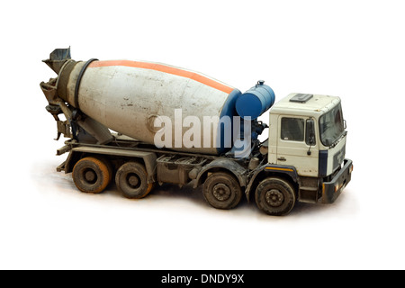 cement, concrete, construction, truck, equipment, transportation, heavy, mixer, vehicle, industrial, isolated, lorry, - Stock Photo