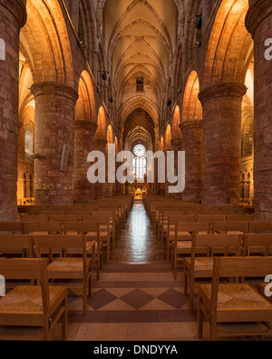 Interior of St. Magnus Cathedral, Kirkwall, Orkney, Scotland - Stock Photo