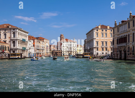 Sunrise over the Grand Canal in Venice - Stock Photo