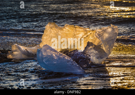 EUROPE ICELAND JOKULSARLON LAGOON TRAVEL VATNAJOKULL GLACIER - Stock Photo