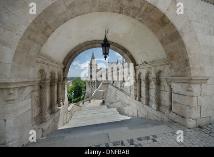 a passage in buda castle - Stock Photo