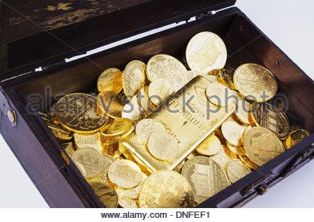 Schatztruhe, Treasure Chest - Stock Photo