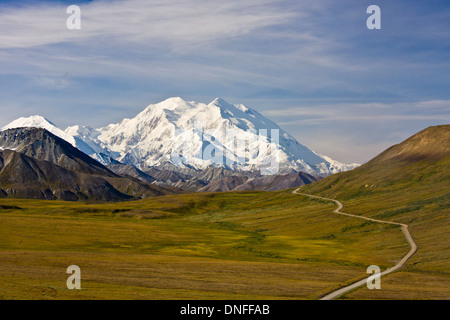 Mt. McKinley - known by Alaskans and Native Americans as Denali, tallest mountain in North America. - Stock Photo