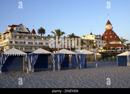 The Hotel del Coronado Coronado California, a Victorian beach resort, - Stock Photo