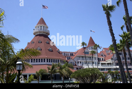 The Hotel del Coronado 'The Del' Coronado San Diego California, - Stock Photo