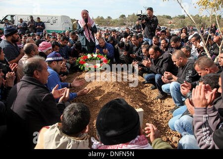 Jerusalem. 26th Dec, 2013. Israeli Bedouins hold a funeral for Salah Abu Latif in the Bedouin town of Rahat in southern - Stock Photo