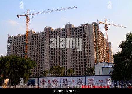 Beijing China Xicheng District Guang An Men Nei Da Jie Guanganmen Inner Street construction economic development - Stock Photo