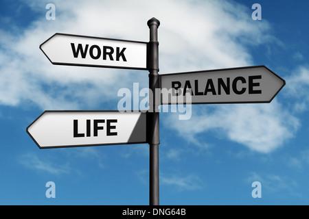 Work life balance choices - Stock Photo