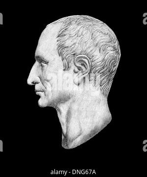 portrait of Gaius Julius Caesar, 100-44 BC, Roman statesman, military commander and author, - Stock Photo