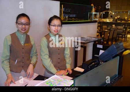 Beijing China Guang An Men Nei Da Jie Guanganmen Outer Street Beijing Hilton DoubleTree hotel lobby restaurant Asian - Stock Photo