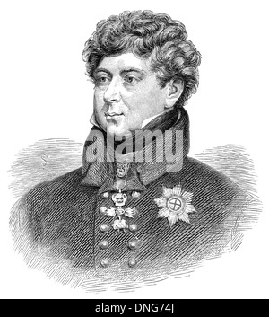 George IV or George Augustus Frederick, 1762 - 1830, king of the United Kingdom of Great Britain and Ireland and - Stock Photo