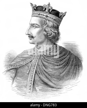 Henry I or Henry Beauclerc, c. 1068 - 1135, King of England from 1100 to 1135, - Stock Photo