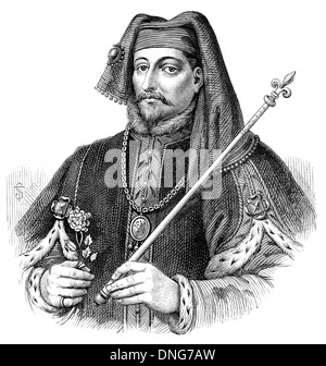 Henry IV or Henry of Bolingbroke, 1367 - 1413, King of England and Lord of Ireland - Stock Photo