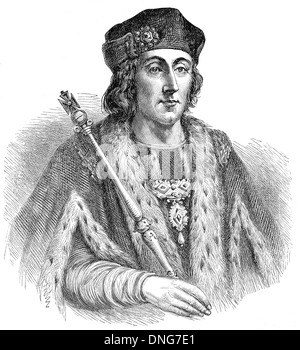 Henry VII, 1457 - 1509, King of England and Lord of Ireland, Heinrich VII. Tudor, - Stock Photo
