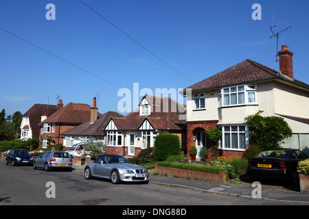 1930s period mixed style houses on residential estate, Southborough , Tunbridge Wells , Kent , England - Stock Photo
